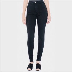 American Apparel Black High Waisted Skinny Jeans